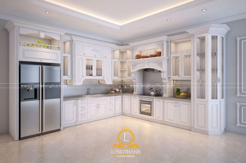Dự án thiết kế tủ bếp nhà chị Phương tại Trực Ninh, Nam Định