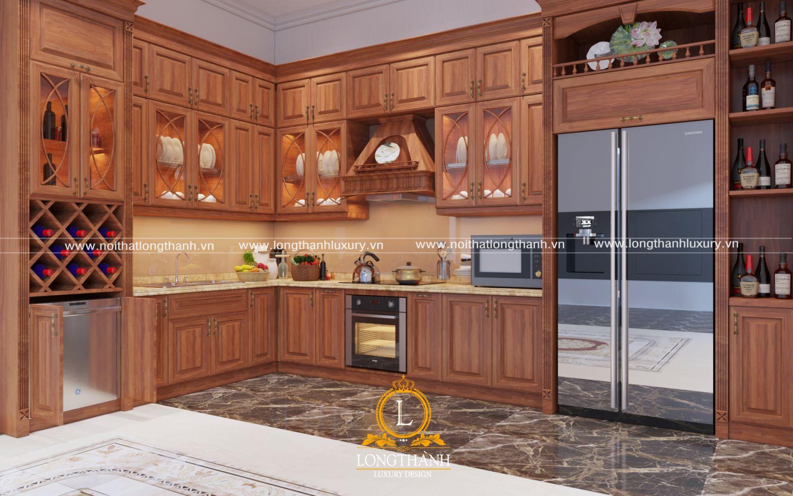 Tủ bếp gỗ Sồi có tốt không? Giá tủ bếp gỗ Sồi Mỹ có cao không?