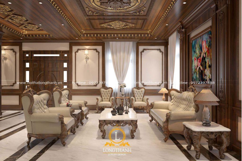 Dự án thiết kế thi công nội thất tân cổ điển phòng khách bếp cho anh Tùng Gamuda