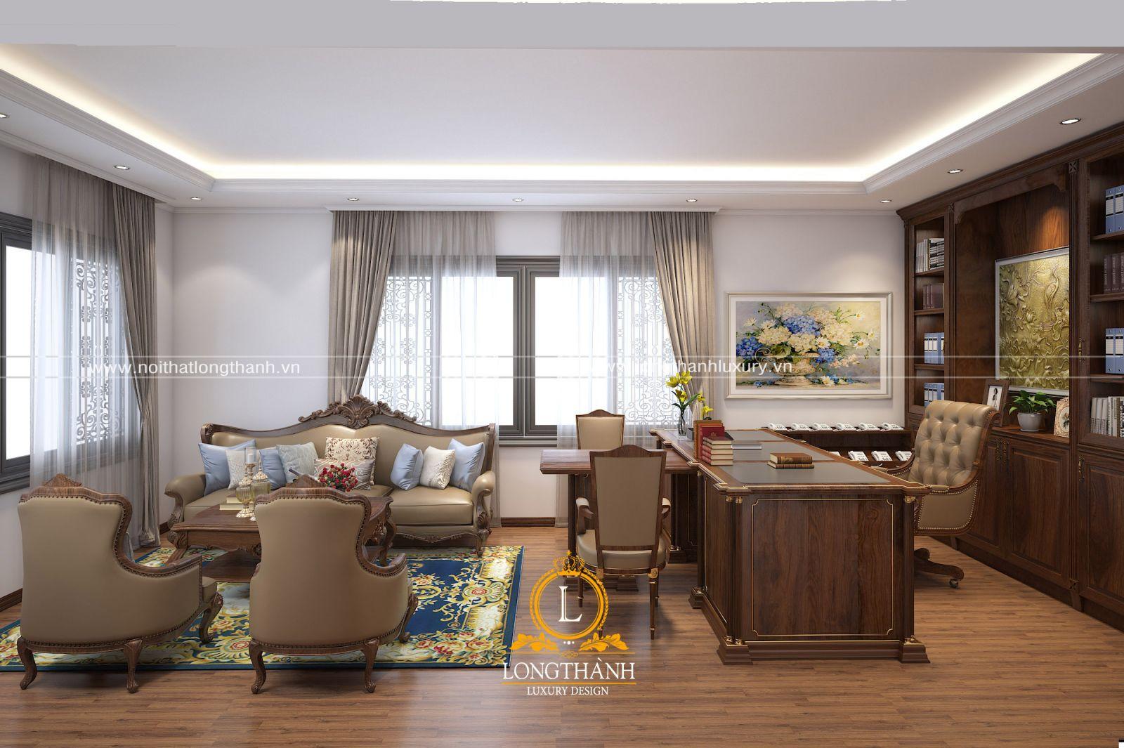 Dự án thiết kế không gian phòng làm việc anh Đức - Cầu Giấy, Hà Nội