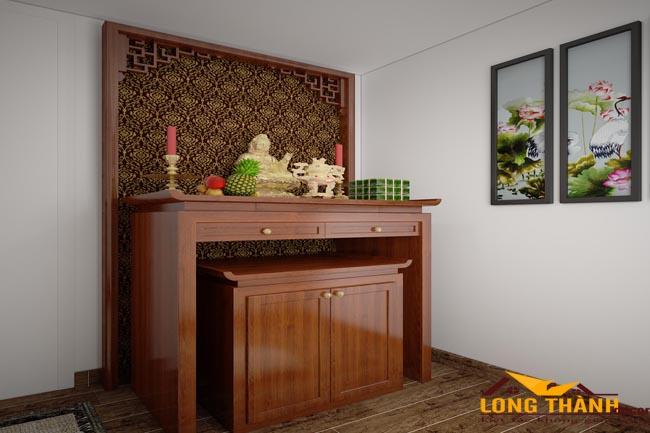 Bàn thờ nhỏ đẹp cho nhà chung cư hẹp