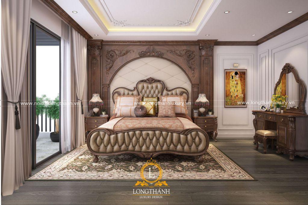 Dự án thiết kế không gian phòng ngủ anh Tùng - Khu biệt thự Gamuda, Hoàng Mai, Hà Nội