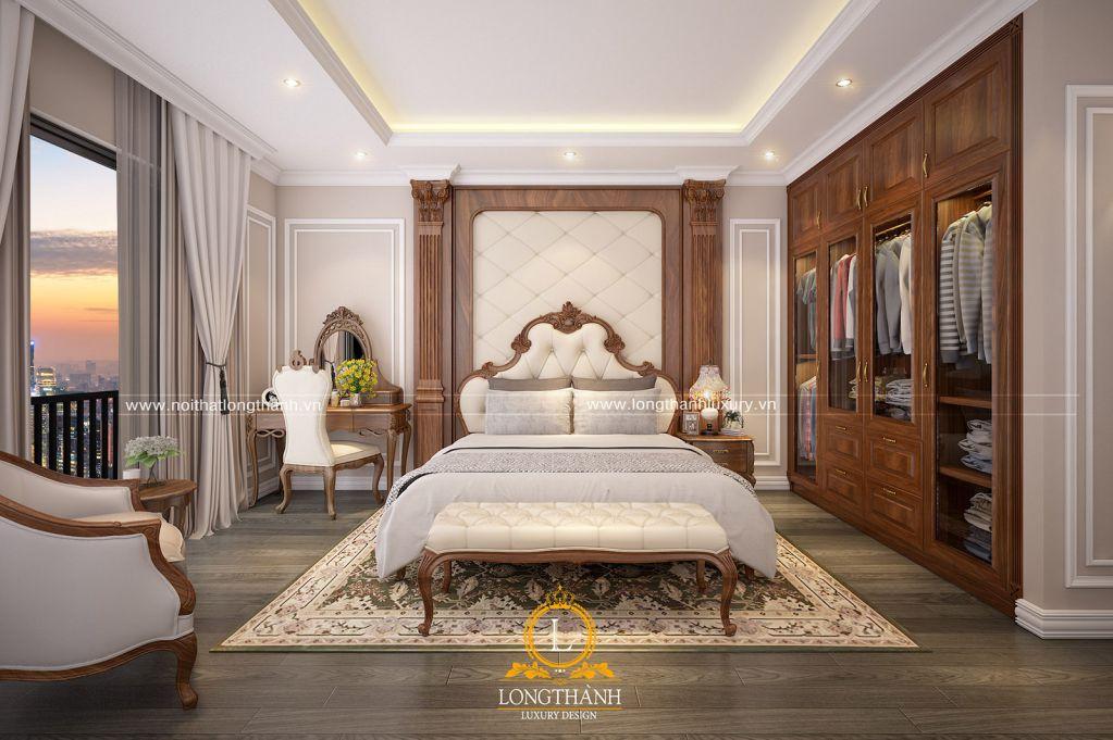 Thiết kế phòng ngủ đẹp cho nhà biệt thự năm 2019- phòng ngủ tân cổ điển