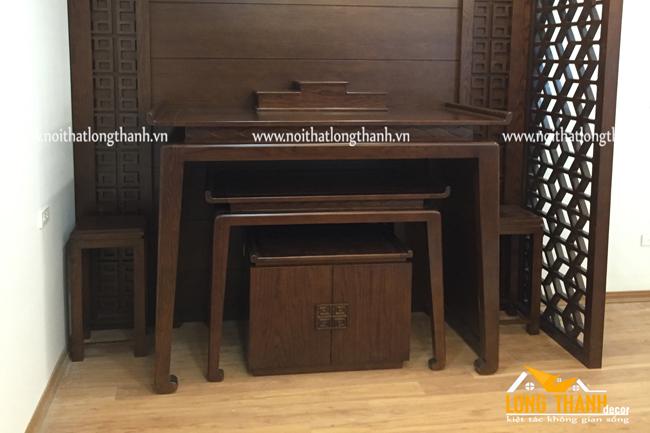 Hình ảnh thực tế phòng thờ chung cư nhà anh Tiến, Nghĩa Tân, Cầu Giấy