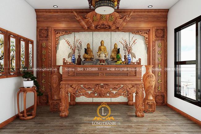 Mẫu bàn thờ đẹp cho căn hộ chung cư
