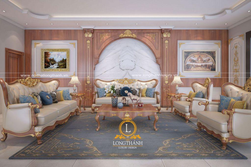 Mẫu thiết kế nội thất phòng khách biệt thự độc đáo năm 2019