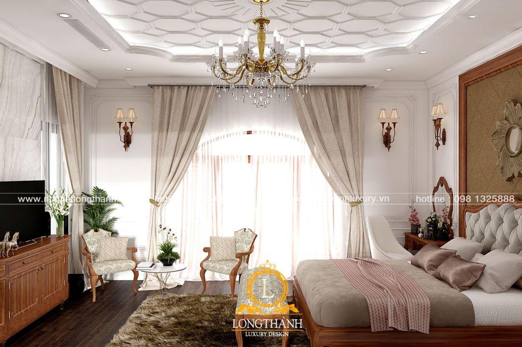 Mẫu phòng ngủ tân cổ điển gỗ tự nhiên cho năm 2019