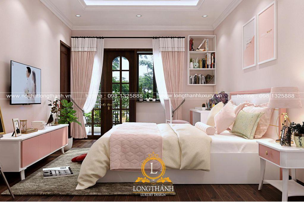 Mẫu phòng ngủ hiện đại đẹp năm 2019 dành cho bé gái