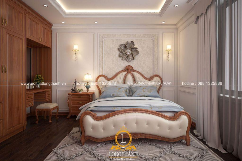 Mẫu phòng ngủ tân cổ điển gỗ tự nhiên đẹp cho năm 2019 – xu hướng lựa chọn cho mọi gia đình