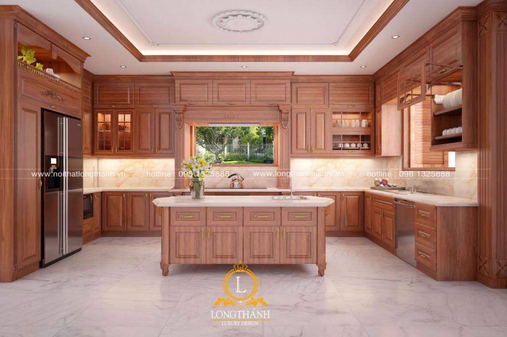 Tủ bếp gỗ Gõ LT42
