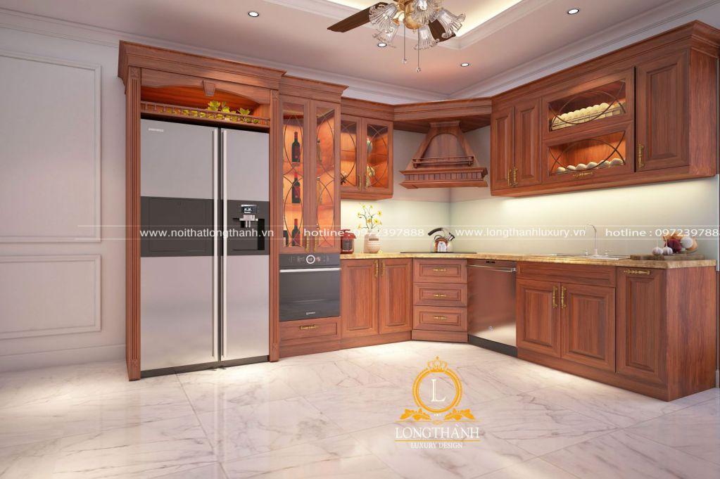 Những mẫu thiết kế tủ bếp gỗ Sồi đẹp không thể bỏ qua