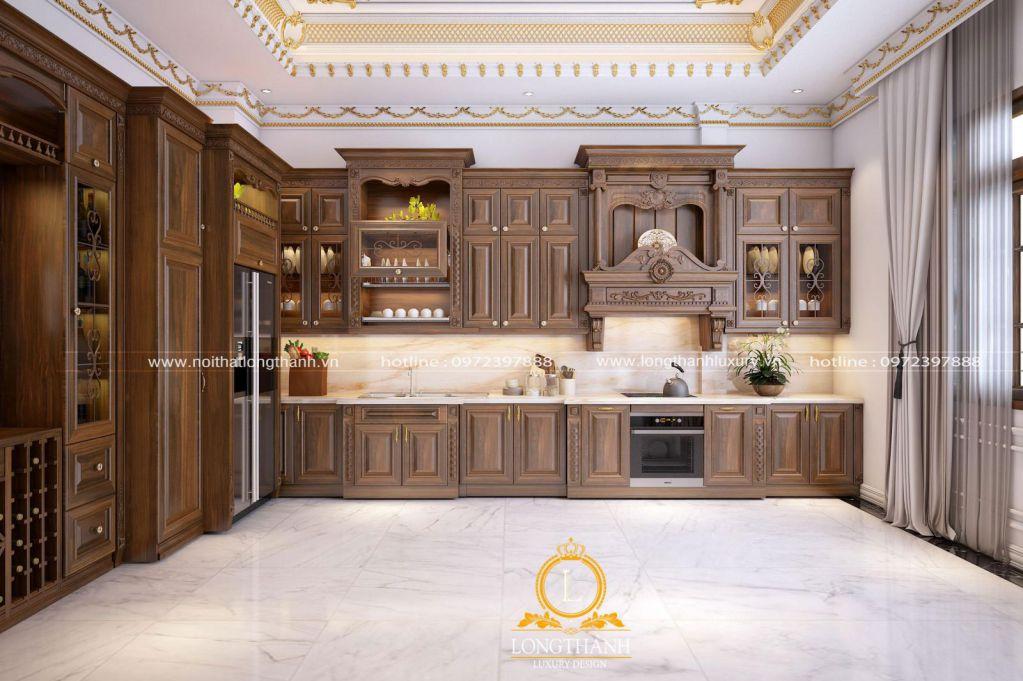 Các chất liệu gỗ tự nhiên tạo nên tủ bếp đẹp cho gia đình bạn