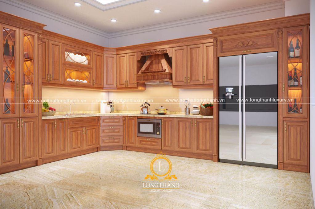 Tủ bếp gỗ Sồi Mỹ LT39
