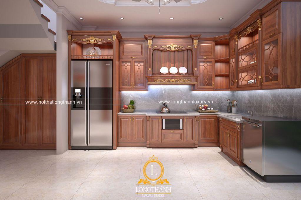Mẫu thiết kế tủ bếp tân cổ điển đẹp nhất 2019 không thể bỏ qua