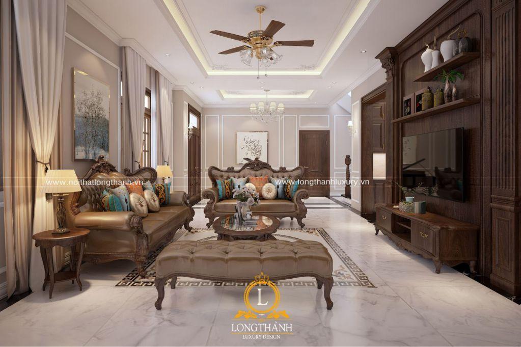 Dự án thiết kế nội thất biệt thự nhà chị Hương - Hòa Bình