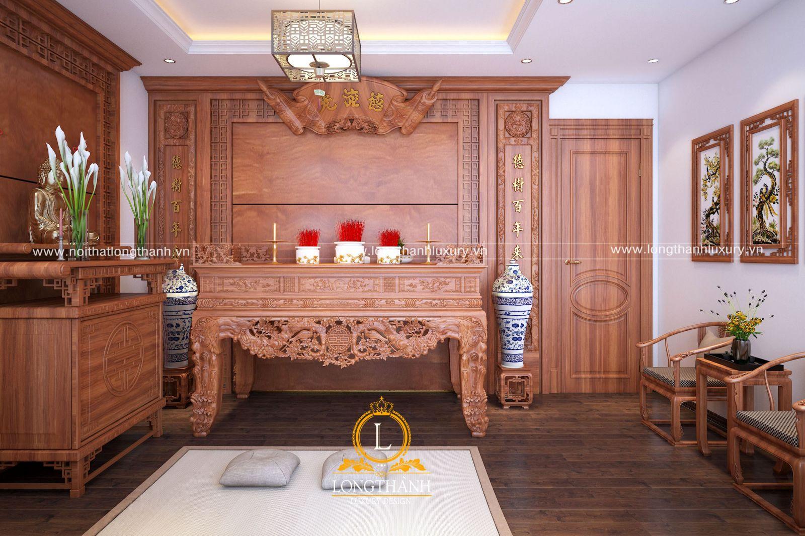 Dự án thiết kế không gian phòng thờ nhà anh Trọng - Nghĩa Hưng, Nam Định