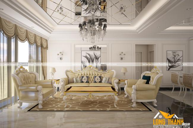 Phòng khách biệt thự đẹp LT16