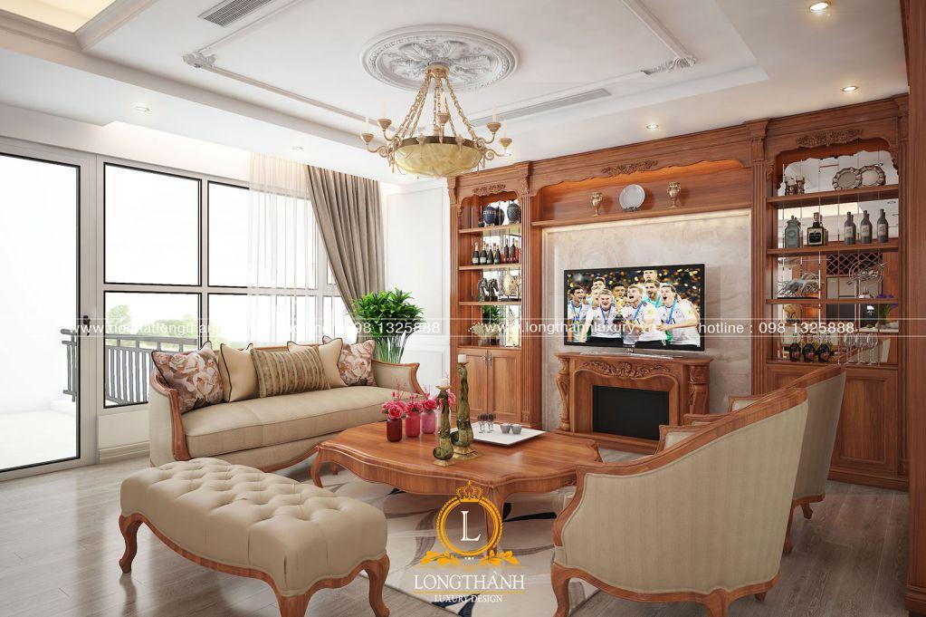 Phòng khách biệt thự đẹp LT25