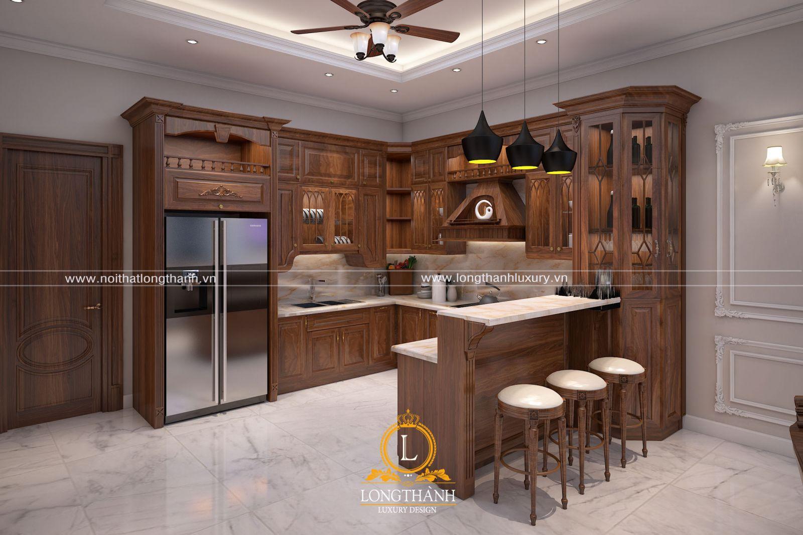 Dự án thiết kế không gian phòng bếp nhà anh Triệu - Hà Nam