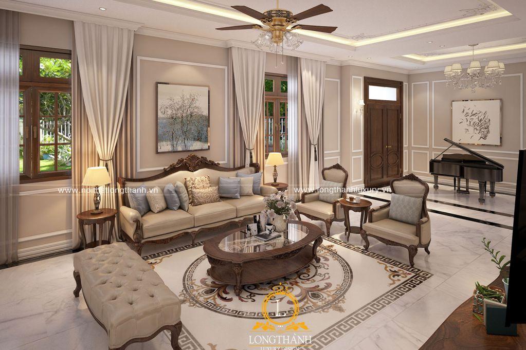 Thiết kế nội thất tân cổ điển xu hướng được nhiều chủ nhân biệt thự lựa chọn
