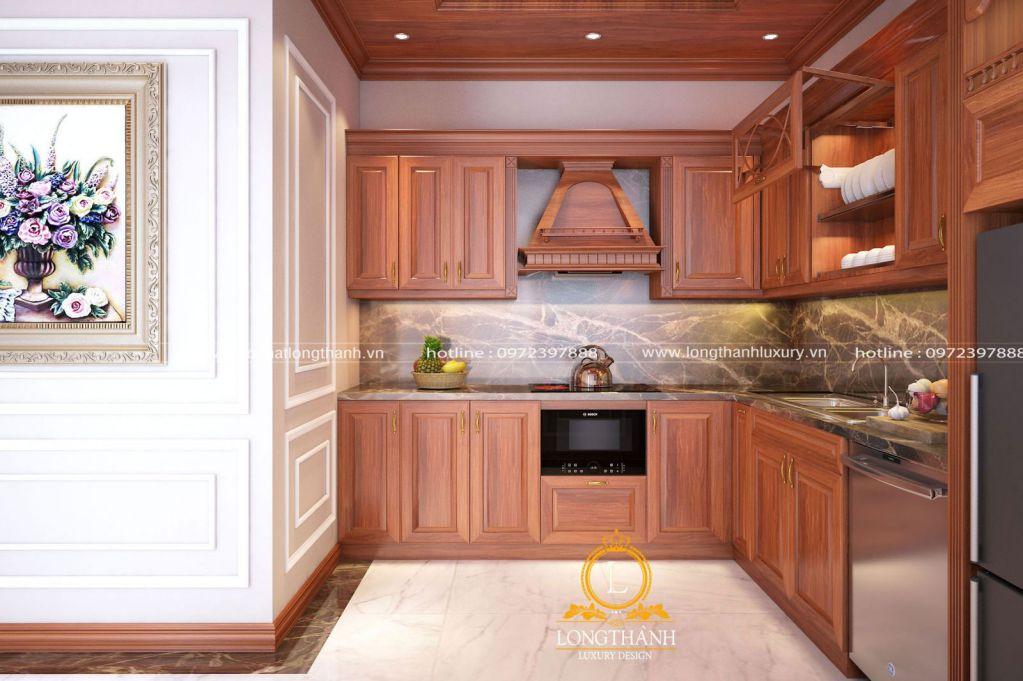 Tủ bếp gỗ đẹp - xu hướng bền vững với thời gian