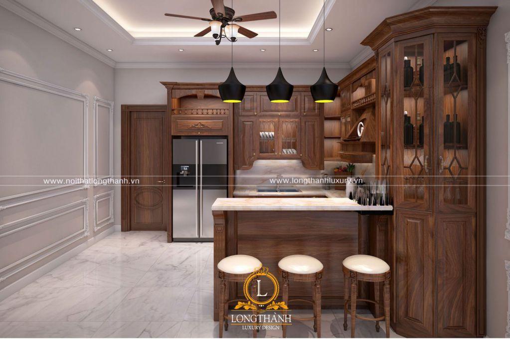 Tủ bếp đẹp cho nhà chung cư LT09