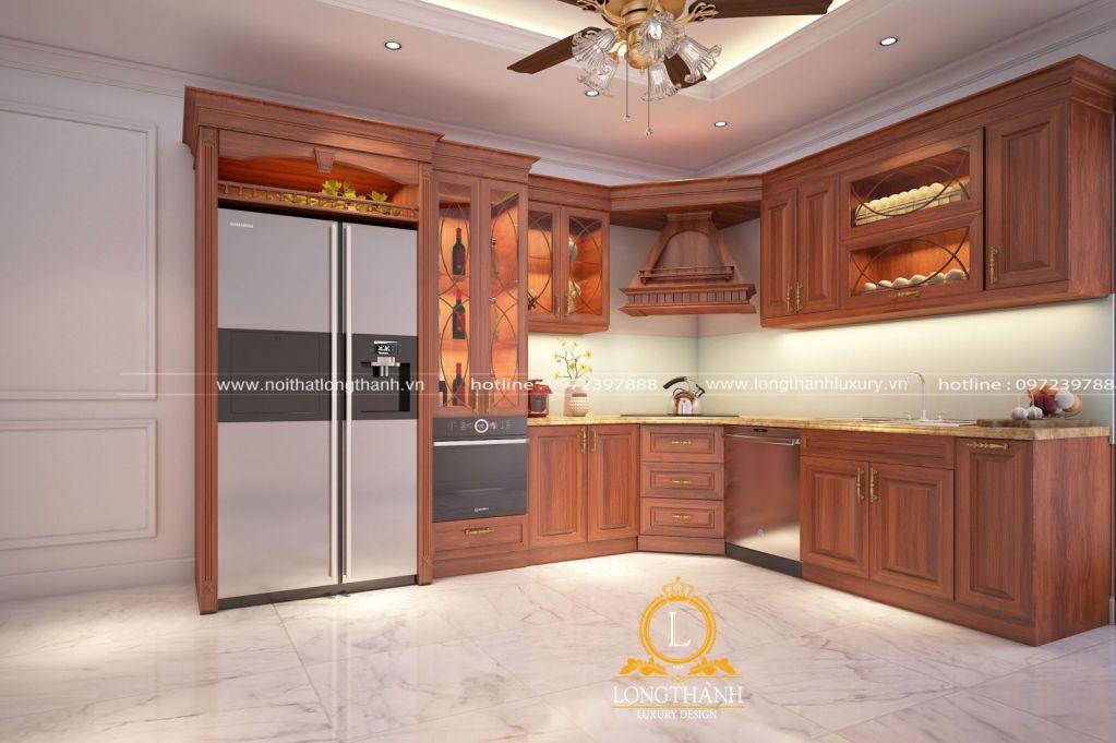 Dự án thiết kế tủ bếp nhà chị Tuyết tại Thành phố Bắc Giang