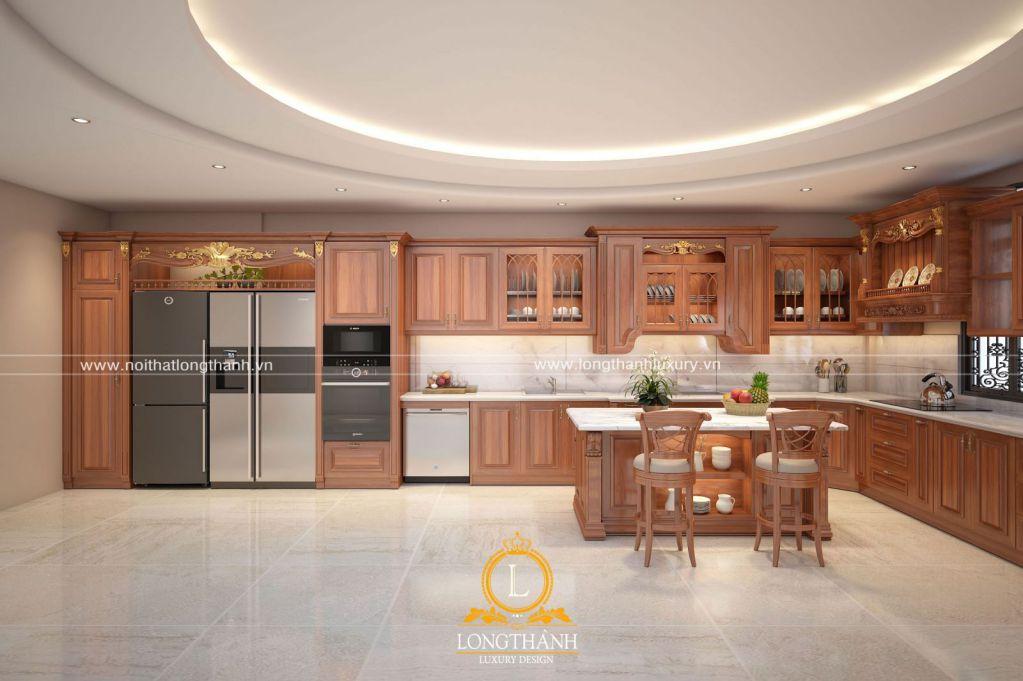 Tủ bếp gỗ Gõ LT50