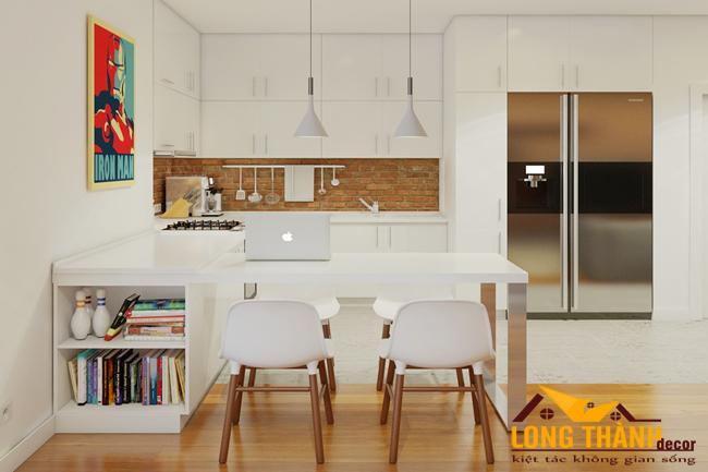 Tủ bếp gỗ Acrylic LT51