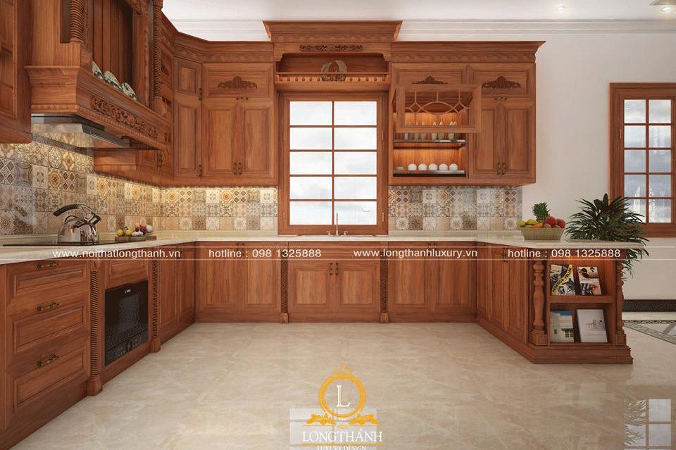 Ưu nhược điểm của tủ bếp gỗ sồi Nga và tủ bếp gỗ sồi Mỹ