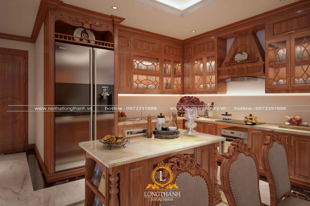 Tủ bếp gỗ Sồi - nội thất ưng ý trong không gian nhà bếp