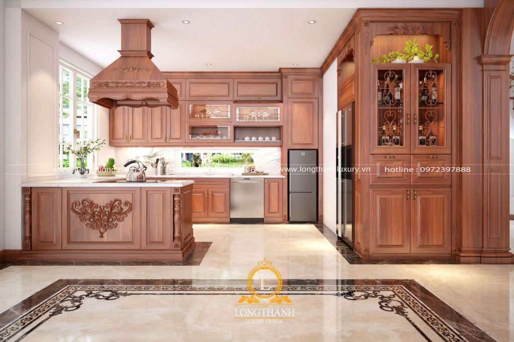 Tất tần tật những điều cần biết khi thiết kế tủ bếp tân cổ điển
