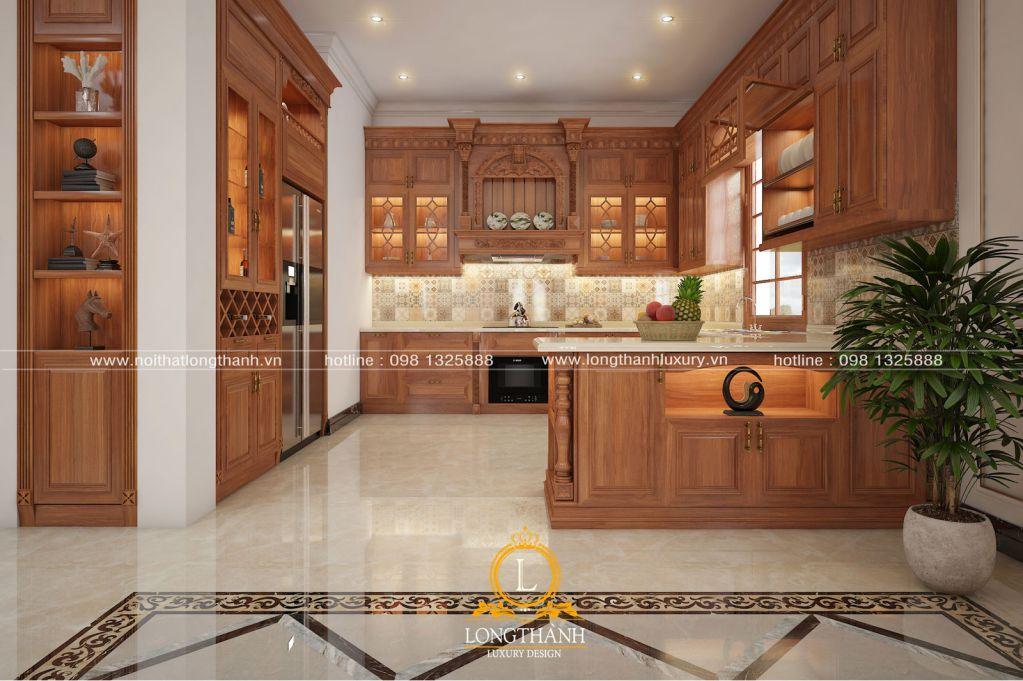 Những mẫu tủ bếp đẹp cho nhà biệt thự năm 2019