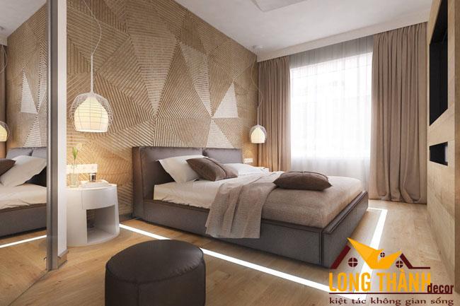 14 mẫu vách ốp nan dành cho phòng ngủ
