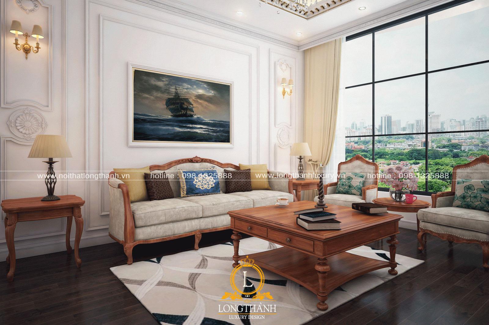 bộ sofa nhung màu hồng phấn trắng nhẹ nhàng tinh tế