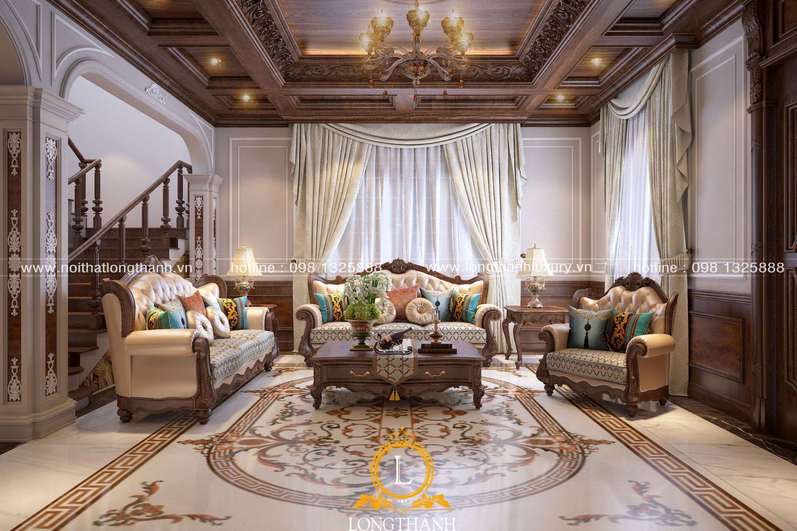 Mẫu thiêt kế sofa tân cổ điển đẳng cấp cho từng căn hộ