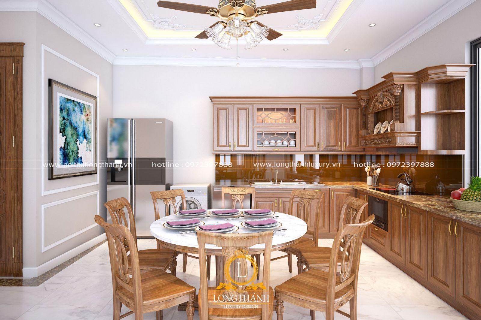 Không gian phòng bếp góc nhìn tổng thể
