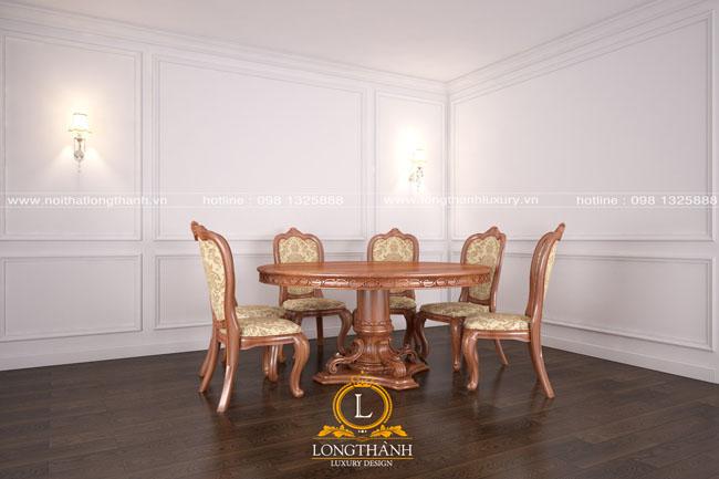 Mẫu thiết kế bàn ghế ăn đẹp LT19