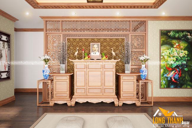 Bàn thờ gỗ Gõ cho nhà rộng