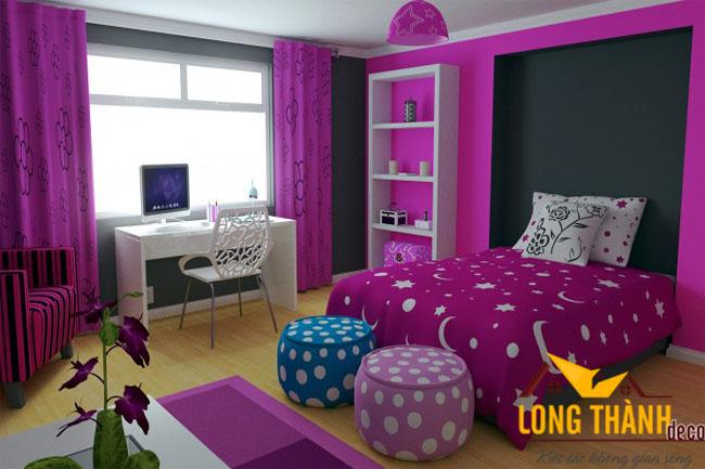 Các mẫu phòng ngủ hiện đại đẹp dành cho bé gái