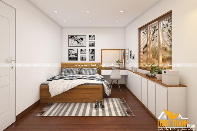 Cách bày trí nội thất phòng ngủ khi diện tích mặt sàn bị chéo