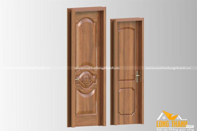Cửa gỗ tự nhiên tân cổ điển LT01