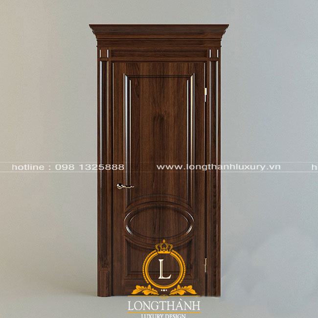 Cửa gỗ tự nhiên tân cổ điển LT06