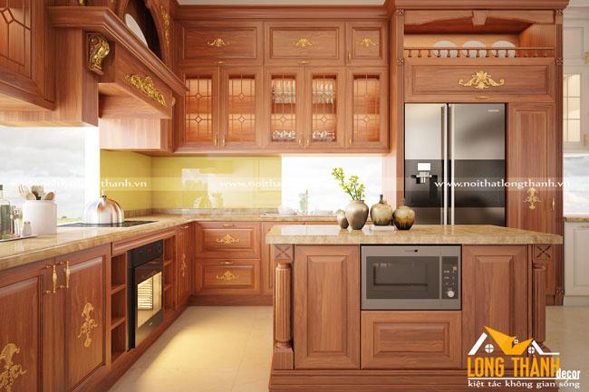 Đặc điểm nhận biết tủ bếp tân cổ điển