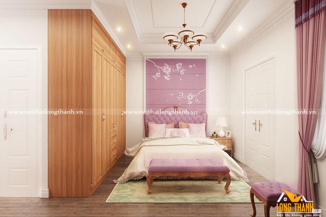 Đẹp, gần gũi cùng phòng ngủ cao cấp với gỗ Gõ tự nhiên