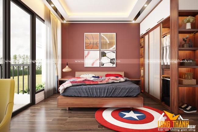 Đẹp hiện đại, tinh tế cùng phòng ngủ gỗ Gõ tự nhiên