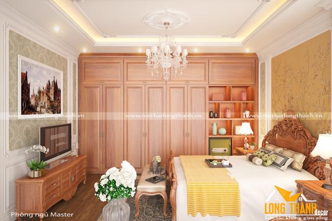 Đẹp lộng lẫy cùng phòng ngủ tân cổ cho nhà biệt thự rộng