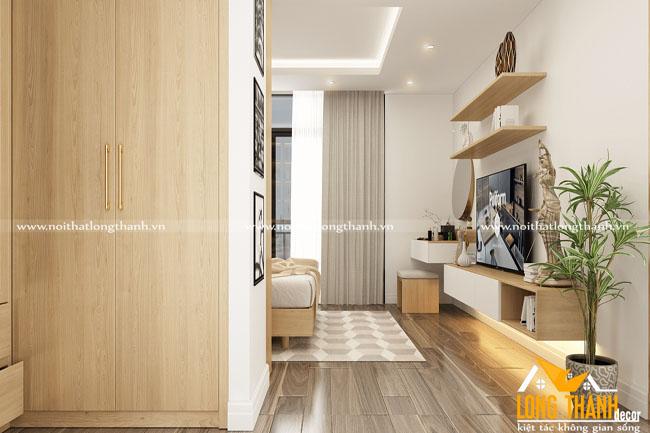 Đẹp, tiện nghi cùng phòng ngủ hiện đại gỗ Veneer Sồi