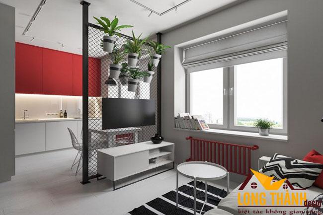 Đón chào mùa đông với sắc đỏ ấm áp trong phòng khách hiện đại