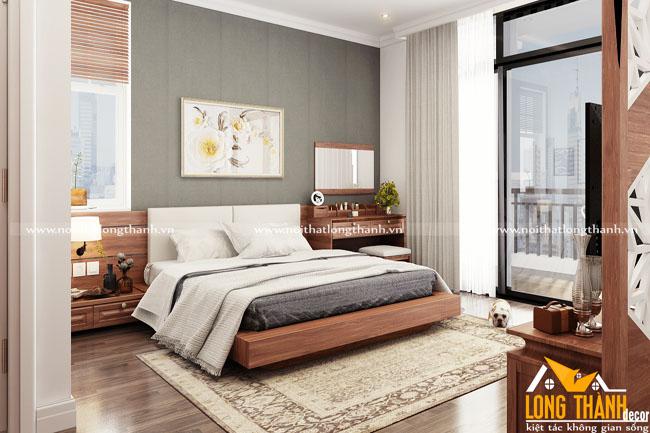 Đơn giản, đẹp thuần khiết cùng phòng ngủ hiện đại với gỗ Gõ tự nhiên